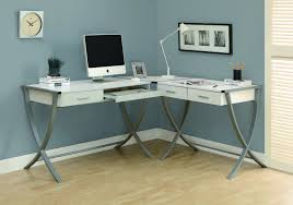 desk cute white l shaped desk glass top remarkable l shaped