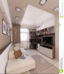 100 Loft Interior Design Ideas Baccalaurean Render 3D Stock Illustration