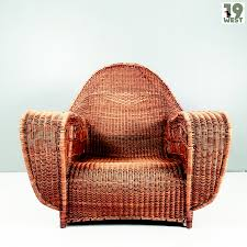 Streamline Wicker Lounge Chair From The 1930's | 19 West