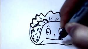 Cute Easy Drawings How to Draw Cartoon Food Taco dibujos animados dibujo
