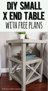 Interesting X Side Table With Diy Ideas Lots Of Tutorials