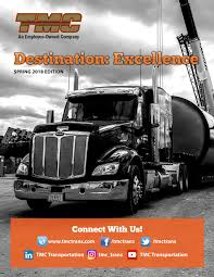 100 Tmc Trucking Training Destination Excellence Spring 2018 Edition By TMC Transportation