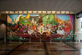 Denver Airport Murals Painted Over by Denver International Airport Airport In Denver Thousand Wonders
