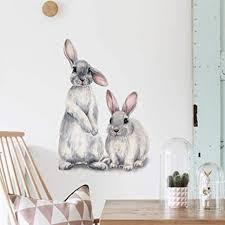 schöne kaninchen tier wandaufkleber kinderzimmer aufkleber wandbild kindergarten dekoration abnehmbare selbstklebende wandbild wasserdichte kunst