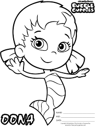 Bubble Guppies Coloring Pages Kids