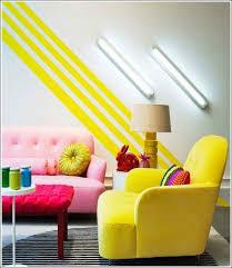 35 Incredible Neon Interior Designs Yellow StripesWall
