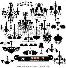 Vintage Crystal Chandelier Vector
