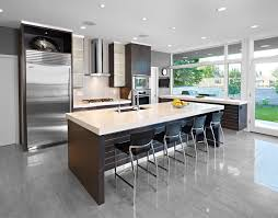 Frosted Glass Kitchen Cabinets Contemporary With Bar Stool Bright Dark Image By Habitat Studio