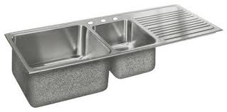 kitchen sinks with drainboard decor trends stainless steel