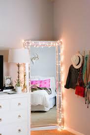 Fairy Lights Strewn On A Mirror
