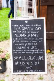 Chalkboard Blackboard Thank You Wedding Sign