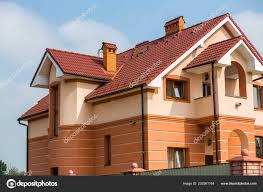 100 Modern Stucco House Big Expensive Luxurious Residential Two Stories