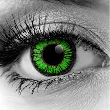 Theatrical Contacts No Prescription by Green Colormax Water Colors Fx Contact Lenses Pair Monster