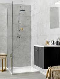12 swish marbrex moonstone standard tile effect wall panels shower