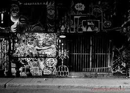 The Montreal Graffiti Series In Black And White Paint