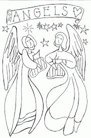 Printable Angel Coloring Pages Home Inspiring Pdf To Print Angels Free