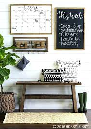 Decor Rustic Style Decorating Living Room Wall Farmhouse Command Center With