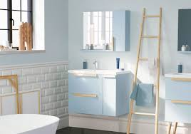 Minimum Bathroom Counter Depth by Nordic Bathroom Vanity Ensemble Mirror Blue