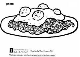 Coloring page Pasta Macaroni Coloring Pages