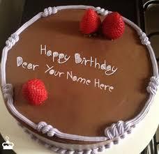 Happy Birthday Cakes for Friend Write Name on Cake Chocolate Strawberry Birthday Cake With Name