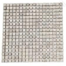 italian marble mosaic 5 8 x 5 8 tumbled taupe limestone marble