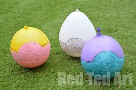 Tissue Paper Mache Easter Crafts