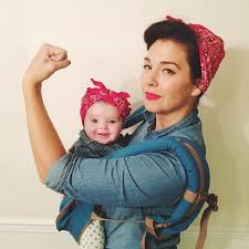 Rosie The Riveter Halloween Tutorial by 40 Adorable Halloween Costumes For Baby Wearing Parents