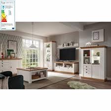 komplett landhaus wohnzimmer set 61 in pinie weiß wotan eich