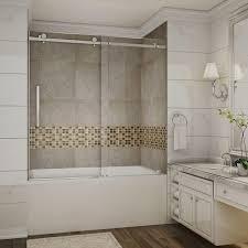 aston moselle 60 in x 60 in completely frameless sliding tub