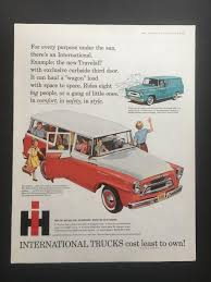 100 Vintage International Harvester Truck Parts Original 1958 Travelall Wagon Print Ad EBay