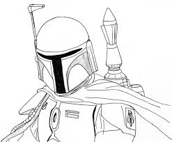 Star Wars Coloring Page Boba Fett