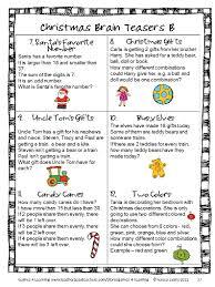 Halloween Brain Teasers Math by Christmas Activities Christmas Math Games And More For Christmas