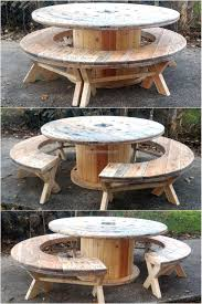 The Dump Patio Furniture by Recycled Pallet Cable Reel Patio Furniture Cable Reel Pallets