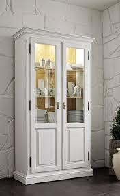 vitrinenschrank vitrine schrank fichte antik weiß massiv shabby