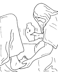 This Coloring Page Is Woman Anointing Jesus Feet With Ointment Apple Sauce Kids Has Piles Of Free Christian Pages And Many Other Youth