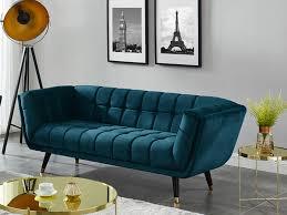 3 sitzer sofa samt grünblau