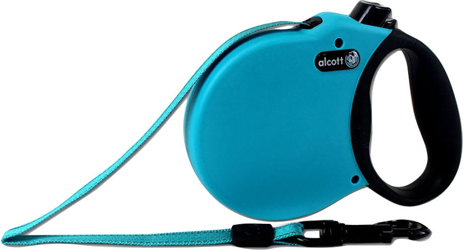Alcott Mariner Retractable Adventure Dog Leash - Large, Blue