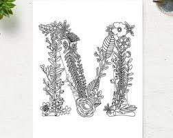 Floral Alphabet Printable Coloring Page Letter L By Coloringpage