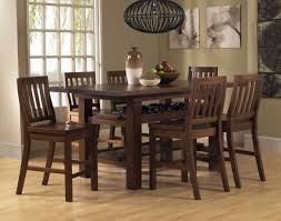 Tall Chairs Prepare Casual Dining Room Decor With Outback Wooden Counter Height Table 6 Piece Mission