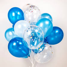 Confetti balloons blue blue blue set of 12 or 20 by TokyoSaturday