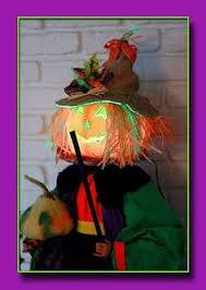 Fiber Optic Halloween Decorations by Indoor Halloween Fall Decor Scarecrow Head W Color Changing Fiber