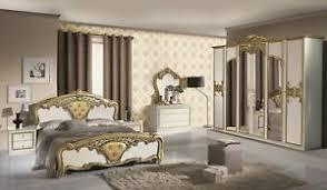 details zu schlafzimmer elisa weiss gold 6 türig luxus italienische möbel komplett zimmer