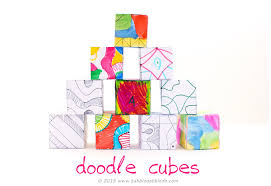 Cubicle Decoration Ideas For Engineers Day by Drawing Ideas For Kids Doodle Cubes Babble Dabble Do