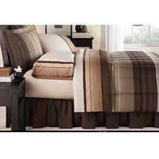 Amazon Mainstays Ombre Bed in a Bag Bedding Set Tan Cal