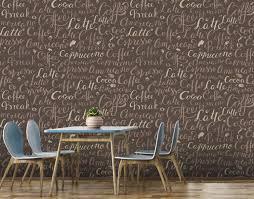 fototapete kaffee wörter braun fototapeten tapete wandbild esszimmer küche espresso m6446