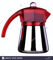Red Italian Coffee Maker For The Stove