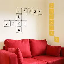 Scrabble Tile Value Calculator by Letter Tile Wall Sticker By The Bright Blue Pig