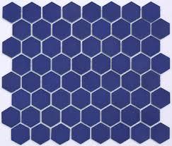 lyric 1 5 inch glazed porcelain hex tile in launch blue