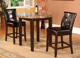 3 Pc Faux Marble Top Counter Height Bar Set Table With 2 Stools