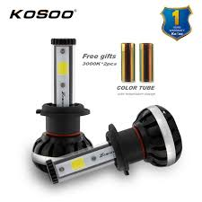 kosoo h7 lonowo led car headlights bulb kit 72w 8000lm h7 fog